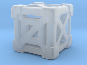Cage 6-Sided Die - Empty (smallest) in Smooth Fine Detail Plastic