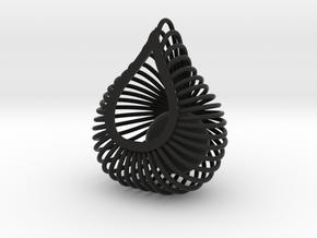 ENVIRON Cage Pendant in Black Strong & Flexible