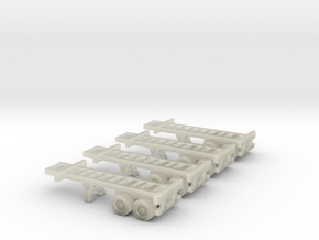 20 foot Container Chassis - Zscale in Transparent Acrylic