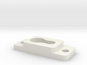Light_fixture_sdjustment_fastner in White Natural Versatile Plastic