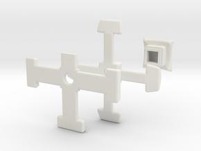 slim 3x3x4 center misc. (print 2) in White Natural Versatile Plastic