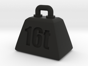 16t weight (Pendant-top) in Black Natural Versatile Plastic