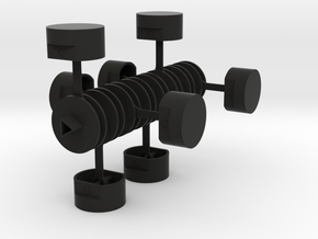 Crankshaft with Pistons in Black Strong & Flexible