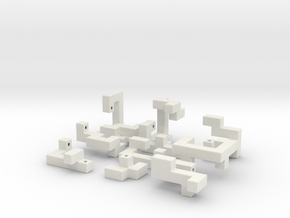 Switch Cube 5cm in White Natural Versatile Plastic