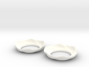 Bobeche (candle cuff) Mk2 in White Processed Versatile Plastic