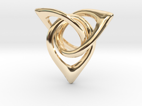 Triangle Loops in 14K Yellow Gold