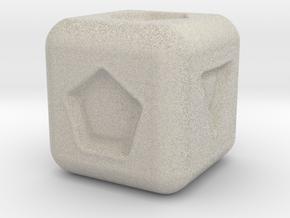 Geometry Die in Natural Sandstone