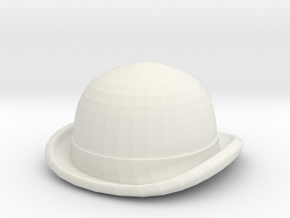 Bowler Hat in White Natural Versatile Plastic