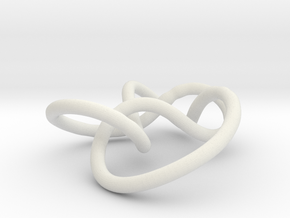 Prime Knot 5.2 in White Natural Versatile Plastic