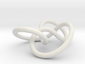 Prime Knot 4.1 in White Natural Versatile Plastic