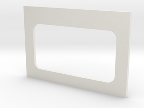 Bulkhead Door Base in White Natural Versatile Plastic