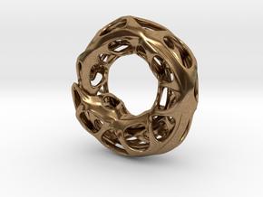 Ouroboros Pendant (M) in Raw Brass