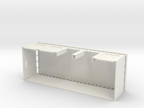 Panzerhalle mit Tor 1:220 in White Natural Versatile Plastic