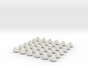 6mm Non-Spherical Bearings in White Natural Versatile Plastic
