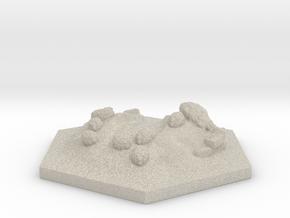 Catan_sheep_hexagon in Natural Sandstone
