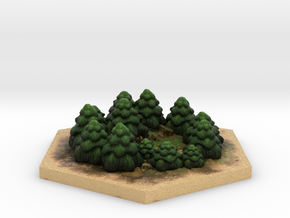 Catan_forest_hexagon in Full Color Sandstone
