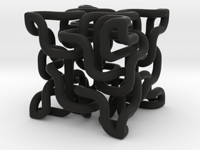 Complex cube 4-8 in Black Strong & Flexible