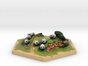 Catan_sheep_hexagon in Full Color Sandstone
