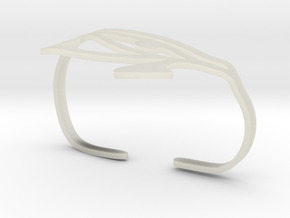 Eye of Horus Two Finger Ring in Transparent Acrylic