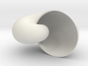 Shell in White Natural Versatile Plastic