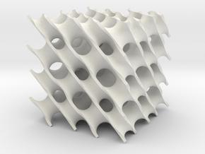 Diamand x 4 in White Natural Versatile Plastic