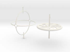 Classic Gyroscope in White Natural Versatile Plastic