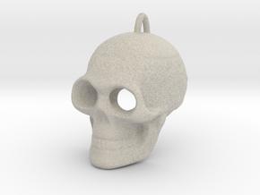Pendant Skull (with pendant ring) in Natural Sandstone