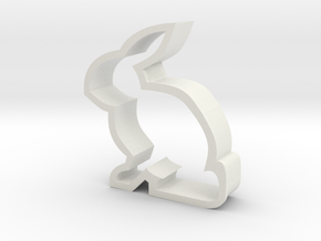 Bunny Cookie Cutter in White Natural Versatile Plastic