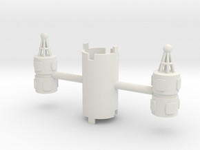 B.Y.O.S.S. 2 Cylinders Vertical in White Natural Versatile Plastic