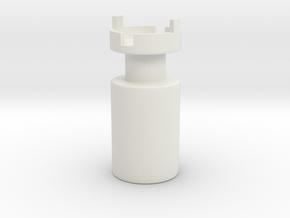 B.Y.O.S.S. End Cap with Hole Large ver2 in White Natural Versatile Plastic