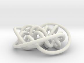Prime Knot d3.7 in White Natural Versatile Plastic