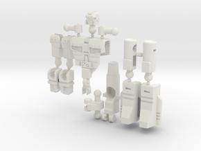 """""""Dustup"""" Gunslinger figure  in White Natural Versatile Plastic"""