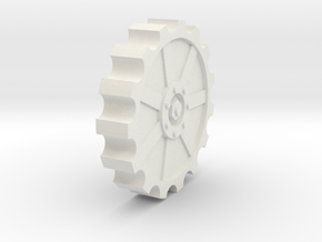 30mm cog wheel in White Strong & Flexible