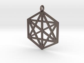 Pendant Hexagram in Stainless Steel