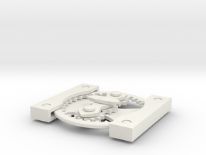 Differential gears card in White Natural Versatile Plastic