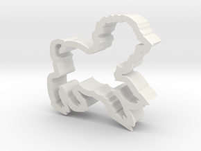 Lamb shaped cookie cutter in White Natural Versatile Plastic