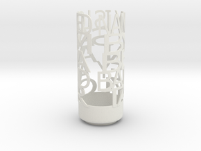 Light Poem2 in White Natural Versatile Plastic