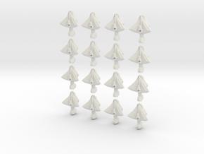 FlatDeath fleet set in White Strong & Flexible