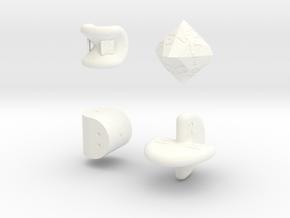SirisC dice set in White Processed Versatile Plastic