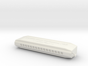 Super64x Harmonica v2 in White Natural Versatile Plastic