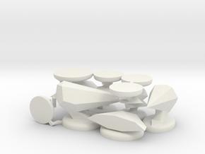 Upscaled Oolite miniatures in White Natural Versatile Plastic