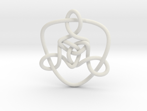 Celtic Knots 01 (small) in White Natural Versatile Plastic