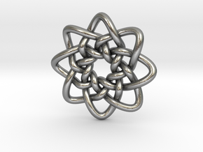 Celtic Knots 05 (small) in Natural Silver