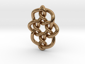 Celtic Knots 08 (small) in Polished Brass