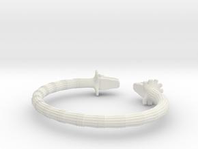 Pulsera Quetzalcoatl in White Natural Versatile Plastic