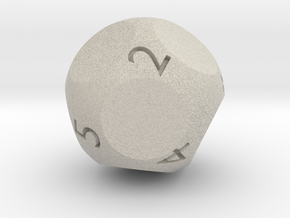 d9 - Nine-Sided Die in Natural Sandstone