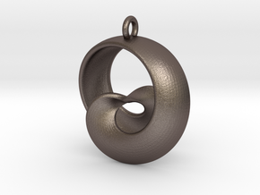 Half Mob-Tor: the half Mobius Torus Shell in Polished Bronzed Silver Steel