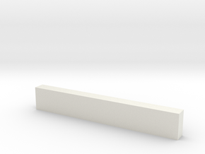 "7'6"" Wooden Crossbeam in White Natural Versatile Plastic"