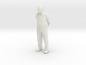 Grandpa 4cm in White Natural Versatile Plastic