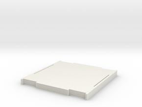 Puzzle-box Gift Cube in White Natural Versatile Plastic